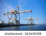 port crane  | Shutterstock . vector #261630458