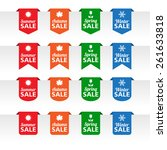 season sale paper tag labels | Shutterstock .eps vector #261633818