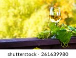 green grape and sweet wine in...