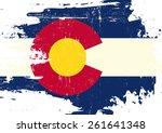 scratched colorado flag. a flag ...
