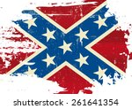scratched confederate flag. a... | Shutterstock .eps vector #261641354