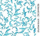 vector seamless watercolor... | Shutterstock .eps vector #261644636