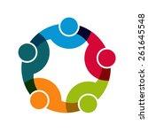 teamwork social network logo ... | Shutterstock .eps vector #261645548