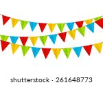 color party flags isolated on... | Shutterstock .eps vector #261648773