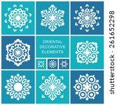 set of ornamental elements in... | Shutterstock .eps vector #261652298