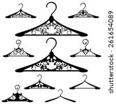 luxurious hanger design set  ... | Shutterstock .eps vector #261654089