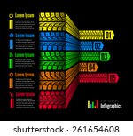 tire tracks infographics... | Shutterstock .eps vector #261654608