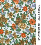 fabric flower texture   Shutterstock . vector #261655523