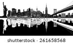 Silhouette Of New York Skyline