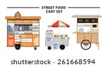 street food cart vector... | Shutterstock .eps vector #261668594