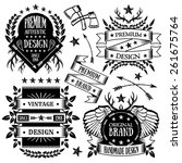 vintage badges  labels and... | Shutterstock .eps vector #261675764