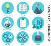 set of business flat design... | Shutterstock .eps vector #261676850