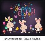 happy easter    Shutterstock .eps vector #261678266