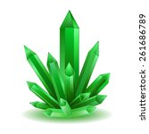 green crystal isolated vector... | Shutterstock .eps vector #261686789