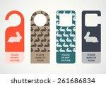 easter door knob  do not disturb | Shutterstock .eps vector #261686834