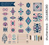 native american tribal design... | Shutterstock .eps vector #261688280