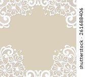 white flower frame  lace... | Shutterstock .eps vector #261688406