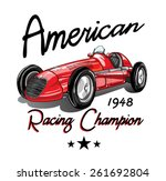 vintage race car for printing... | Shutterstock .eps vector #261692804