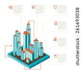 isometric vector illustration... | Shutterstock .eps vector #261693038
