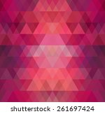 Mosaic Triangle Background....
