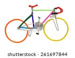 bicycle model toy wire isolated ... | Shutterstock . vector #261697844