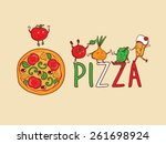 sign  symbol for pizzeria.... | Shutterstock .eps vector #261698924