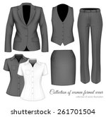 the outfits for the... | Shutterstock .eps vector #261701504