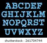 vector cinema font. | Shutterstock .eps vector #261704744