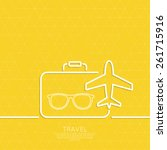 icon airplane  glasses and... | Shutterstock .eps vector #261715916