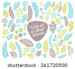 vector floral set. graphic...   Shutterstock .eps vector #261720500