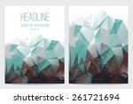 abstract brochure and flyer... | Shutterstock .eps vector #261721694