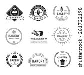 set of bakery logos  labels ... | Shutterstock . vector #261722198