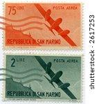 Vintage World Postage Stamp Ephemera europe(editorial) - stock photo