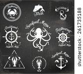 restaurant seafood design | Shutterstock .eps vector #261735188