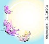 butterflies design | Shutterstock .eps vector #261735998