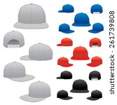 various vector hats in all... | Shutterstock .eps vector #261739808