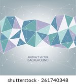 3d abstract background for... | Shutterstock .eps vector #261740348