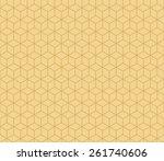 seamless tacha brown isometric...   Shutterstock . vector #261740606