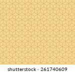 seamless tacha brown isometric... | Shutterstock .eps vector #261740609