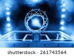 basketball hoop in a sports...   Shutterstock . vector #261743564