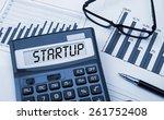 word startup displayed on... | Shutterstock . vector #261752408
