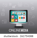 technology design over gray... | Shutterstock .eps vector #261754388