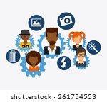 social network design  vector...