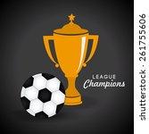 sport design over gray...   Shutterstock .eps vector #261755606