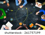 planning strategy thinking... | Shutterstock . vector #261757199