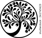 tree emblem | Shutterstock .eps vector #261765623