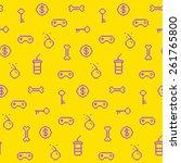 seamless oldschool gaming... | Shutterstock .eps vector #261765800