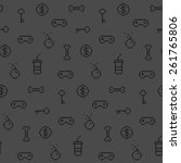 seamless oldschool gaming... | Shutterstock .eps vector #261765806