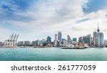 skyline of auckland with city... | Shutterstock . vector #261777059