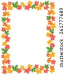 autumn frame with colorful... | Shutterstock .eps vector #261777689